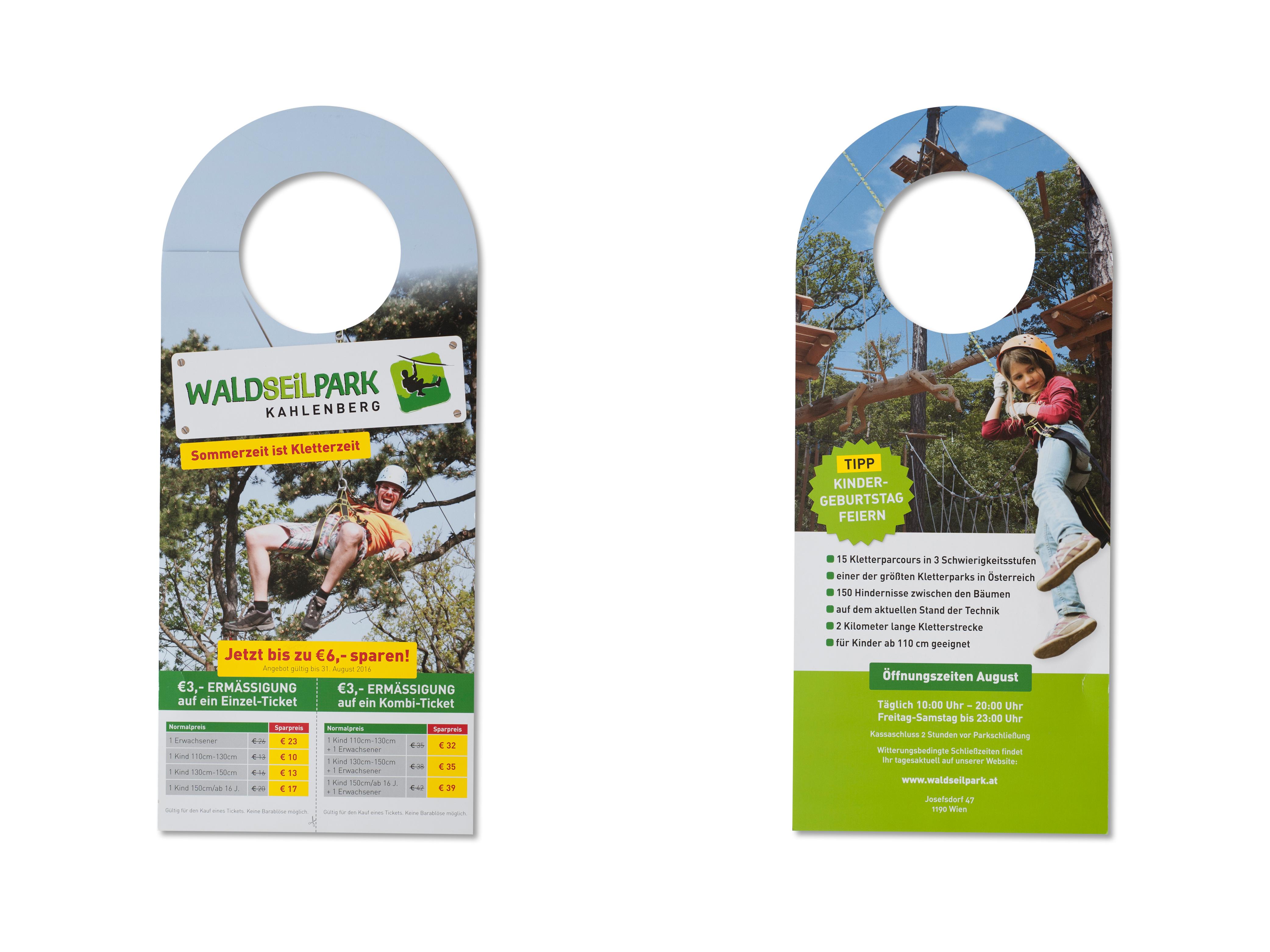 Waldseilpark Anwendungsbeispiel Türhänger